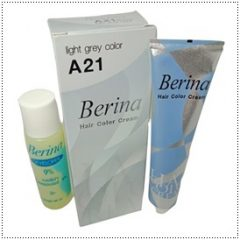 A21 Berina Light Gray Permanent Hair Dye Cream Silver Grey Hair Color
