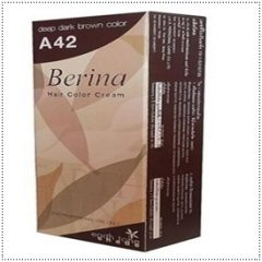 Berina A42 Deep Dark Brown Permanent Hair Dye Color Brunette Hair Dye