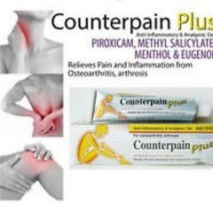 Counterpain Plus Piroxicam Methyl Salicylate and Eugenol Pain Salve Gout 50g
