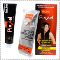 Lolane Pixxel Hair Straightening Cream Strong Rebonding Strengthening Keratin Lecithin Bamboo