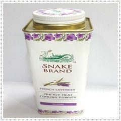 Snake Brand French Lavender Talc Hyperhidrosis Rose Jasmine Patchouli Eucalyptus